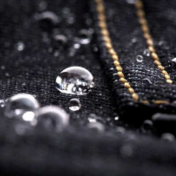 Repreve Denim Image with Water Droplets