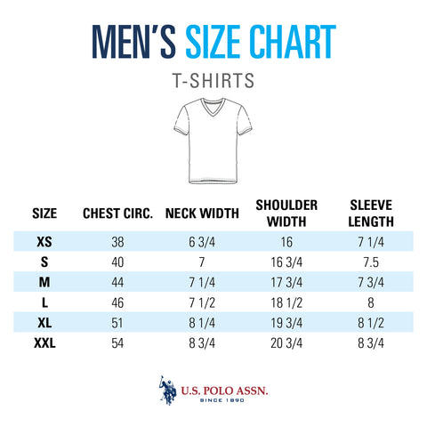 Men's Tees Size Chart