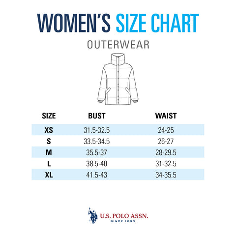 Size Guide Women S Outerwear U S Polo Assn