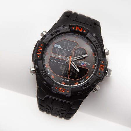 Men's black sport watch.