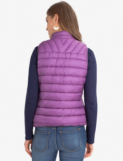 CHEVRON QUILTED VEST WITH SIDE POCKETS - U.S. Polo Assn.