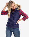 FUR HOODED VEST - U.S. Polo Assn.