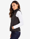 QUILTED VEST WITH FAUX LEATHER PIPING - U.S. Polo Assn.