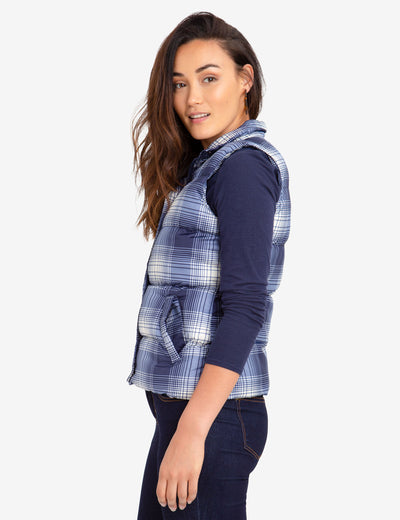 PLAID PUFFER VEST - U.S. Polo Assn.