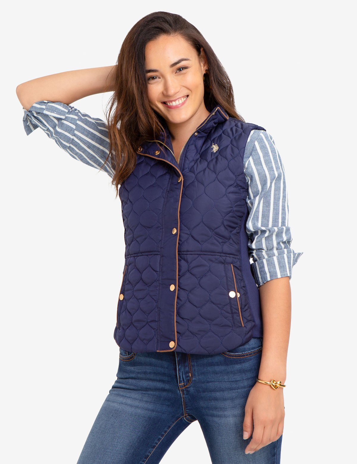 SIDE KNIT QUILTED VEST