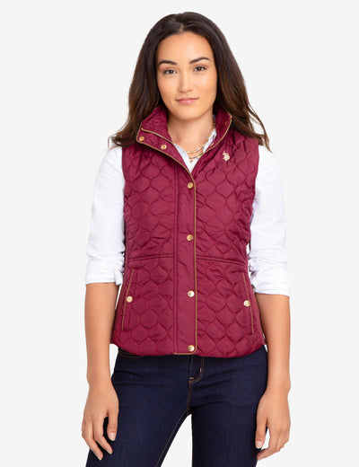 SIDE KNIT QUILTED VEST - U.S. Polo Assn.