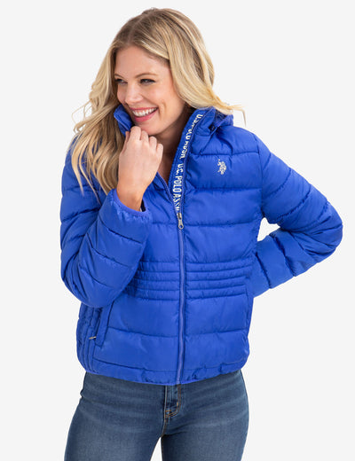 USPA PUFFER JACKET WITH LOGO TAPING - U.S. Polo Assn.