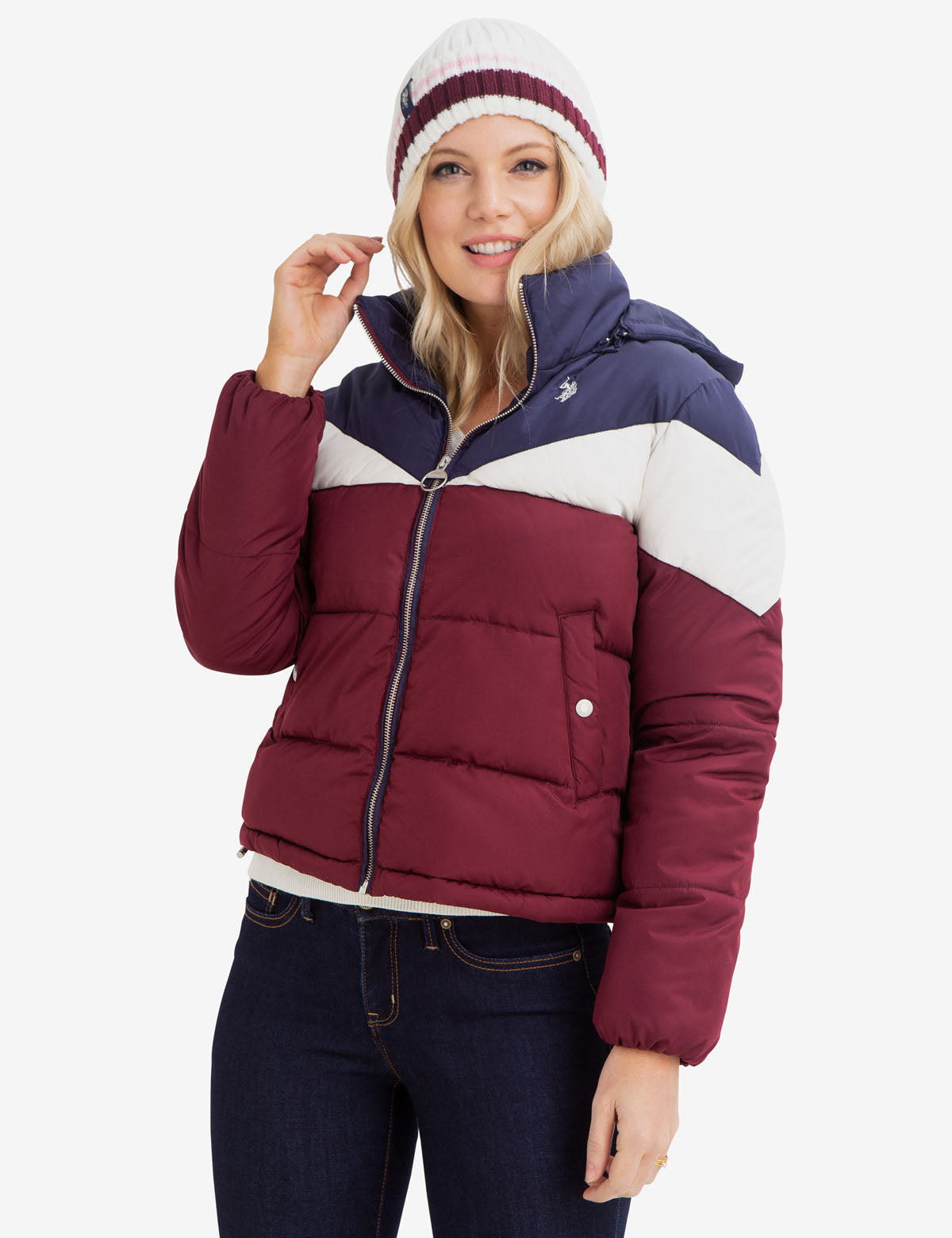 TRI-COLOR PUFFER COAT