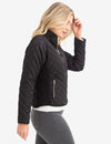 DIAMOND QUILTED SIDE KNIT JACKET - U.S. Polo Assn.