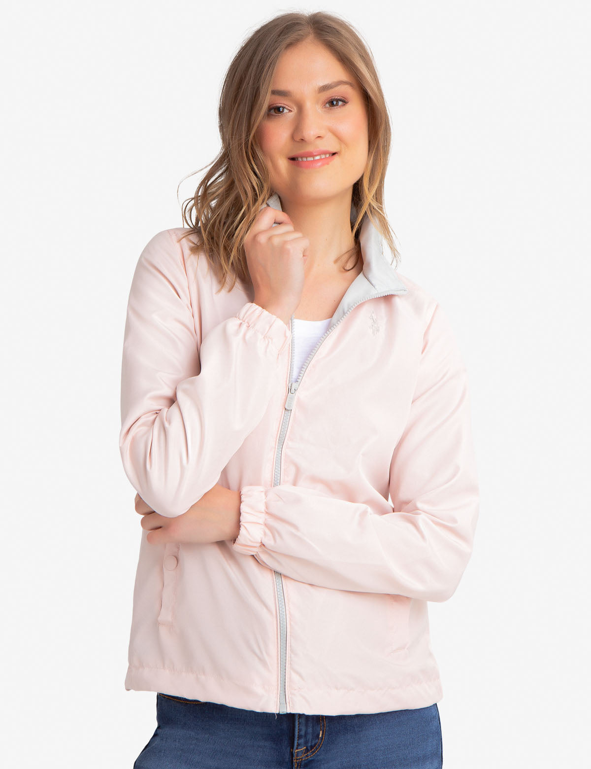 WINDBREAKER WITH STAND COLLAR