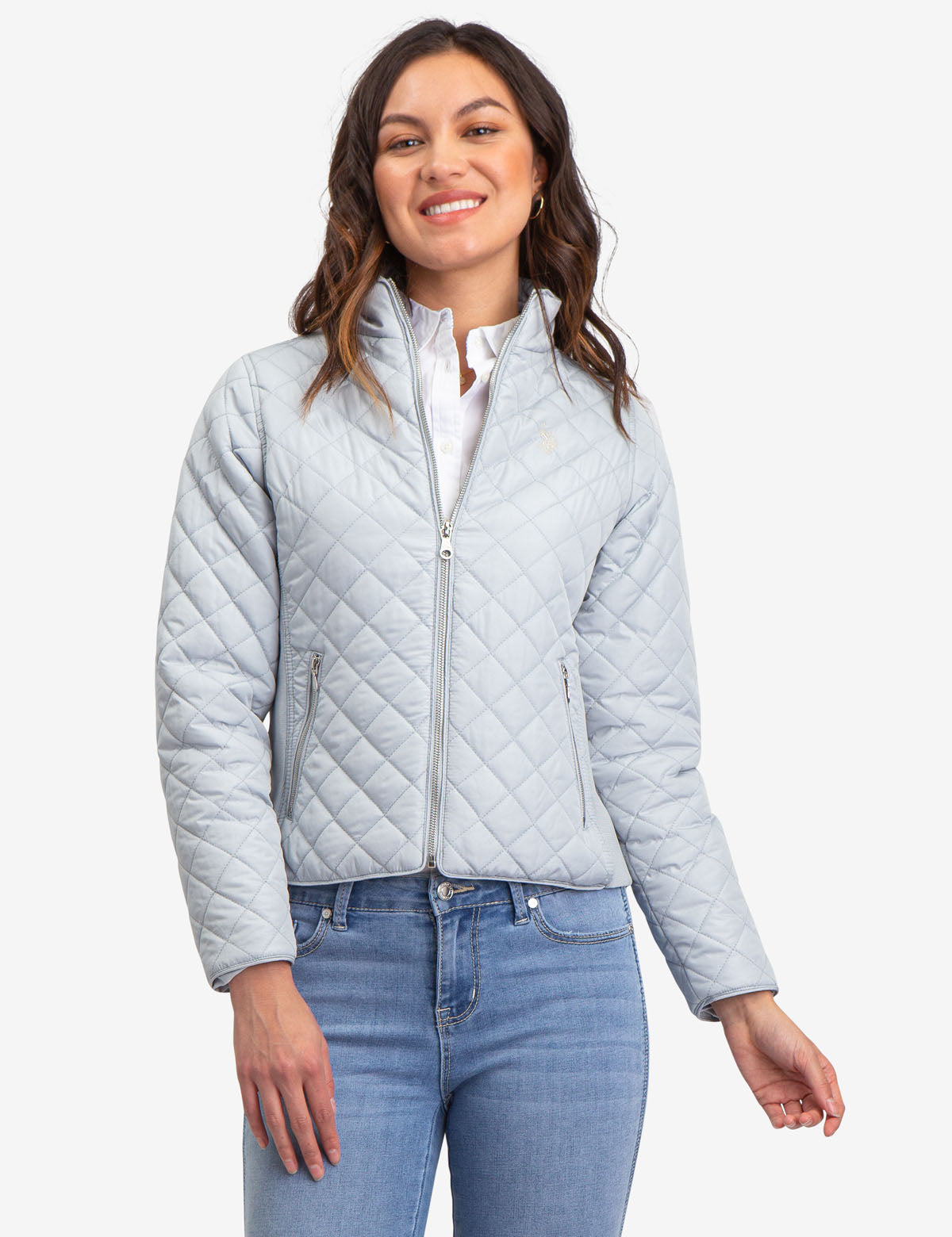 QUILTED SIDE KNIT MOTO JACKET