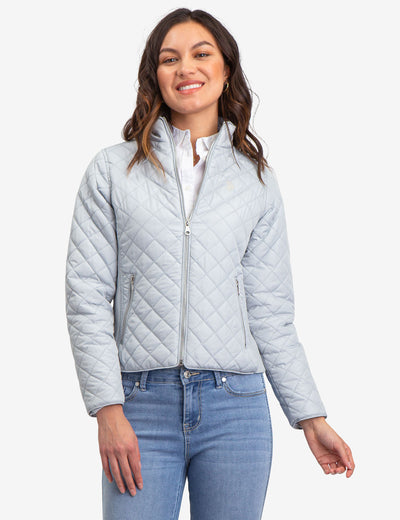 QUILTED SIDE KNIT MOTO JACKET - U.S. Polo Assn.