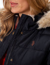FUR HOODED JACKET - U.S. Polo Assn.