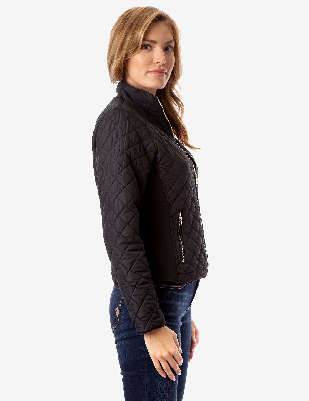 SIDE KNIT QUILTED JACKET - U.S. Polo Assn.