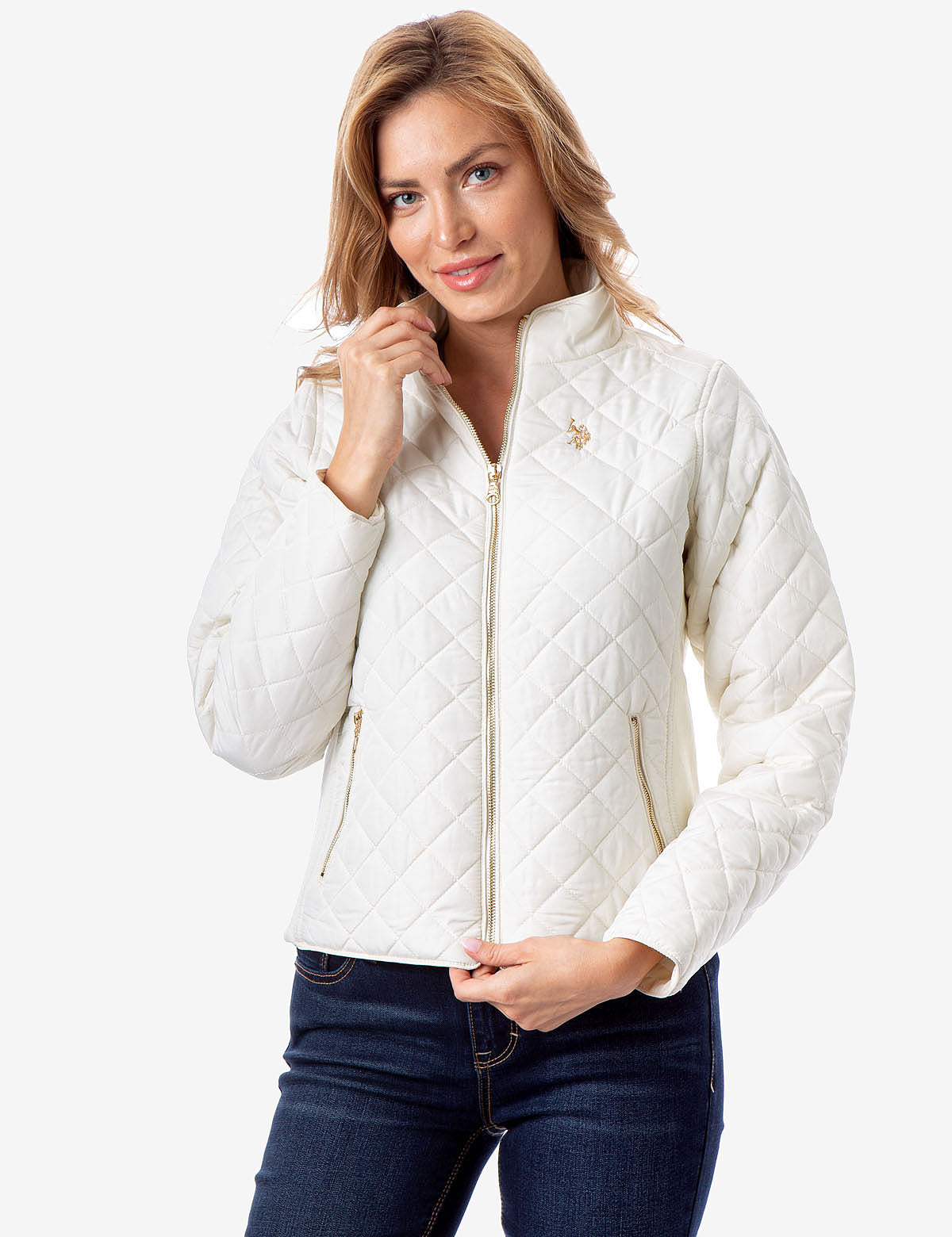 SIDE KNIT QUILTED JACKET