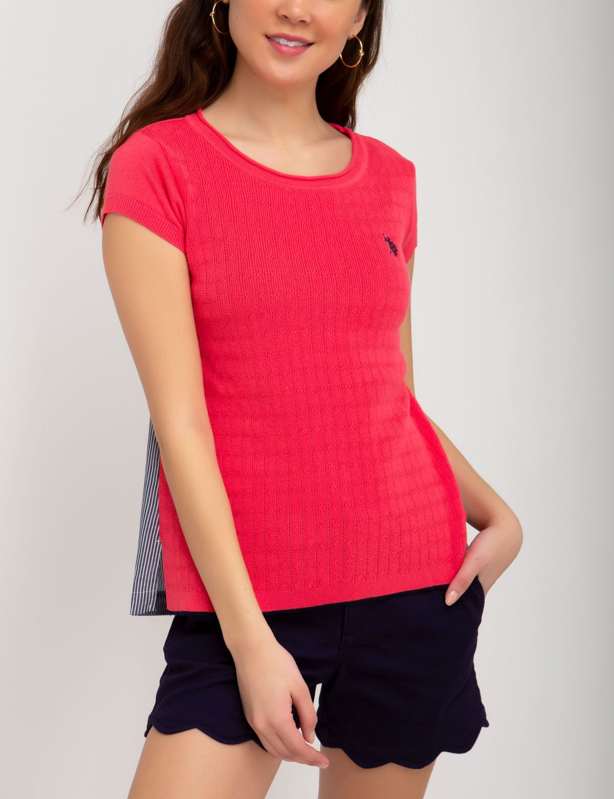 CONTRAST SWEATER - U.S. Polo Assn.
