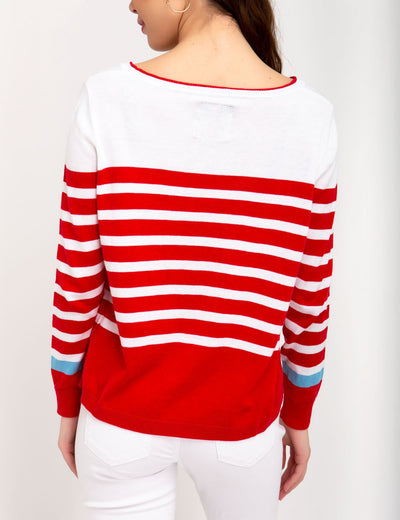 STRIPED COLORBLOCK SWEATER - U.S. Polo Assn.