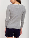 TIPPED CABLE CREW NECK SWEATER - U.S. Polo Assn.