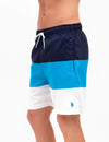 TRI-COLORBLOCK SWIM TRUNKS - U.S. Polo Assn.