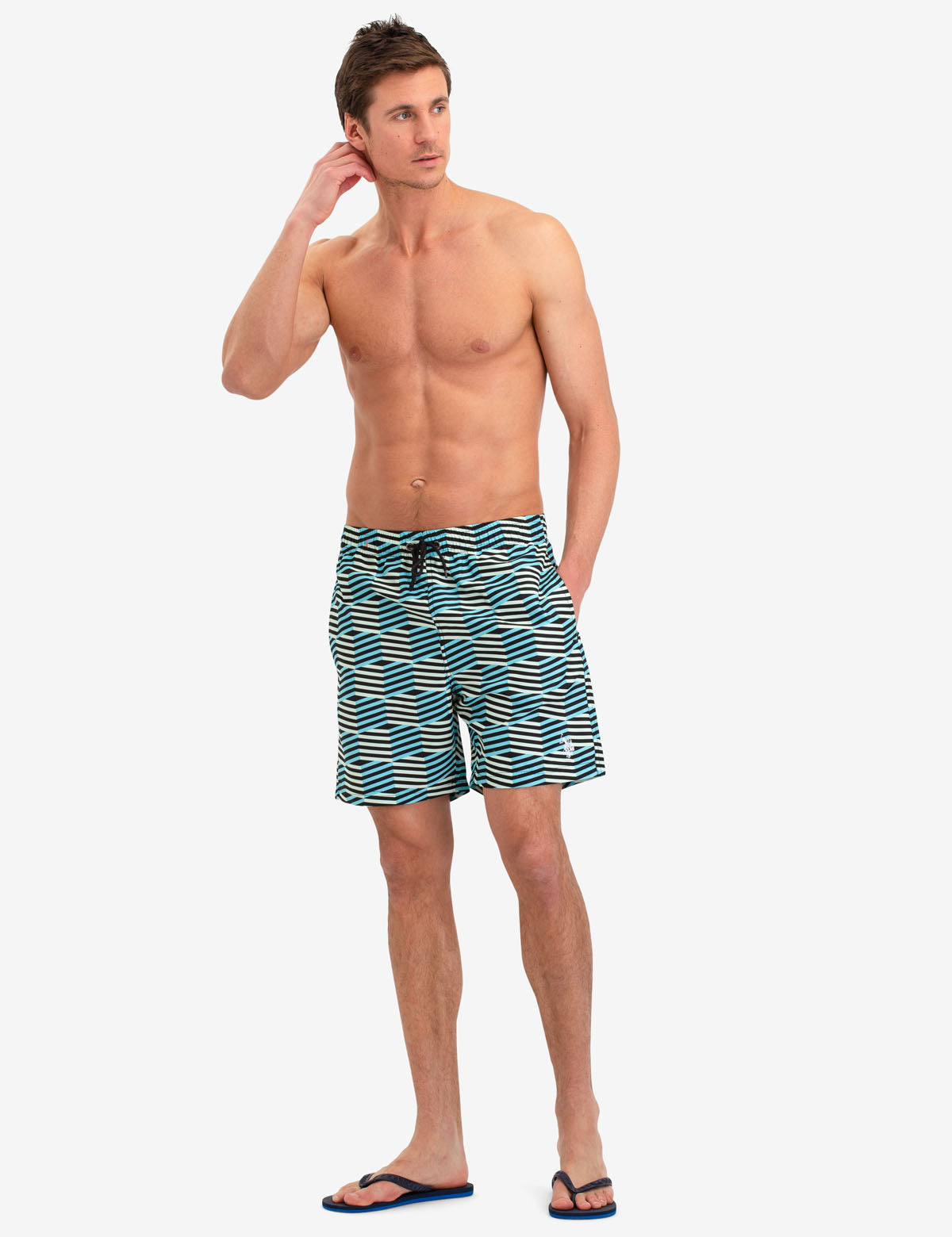 GEO PATTERN SWIM TRUNKS - U.S. Polo Assn.