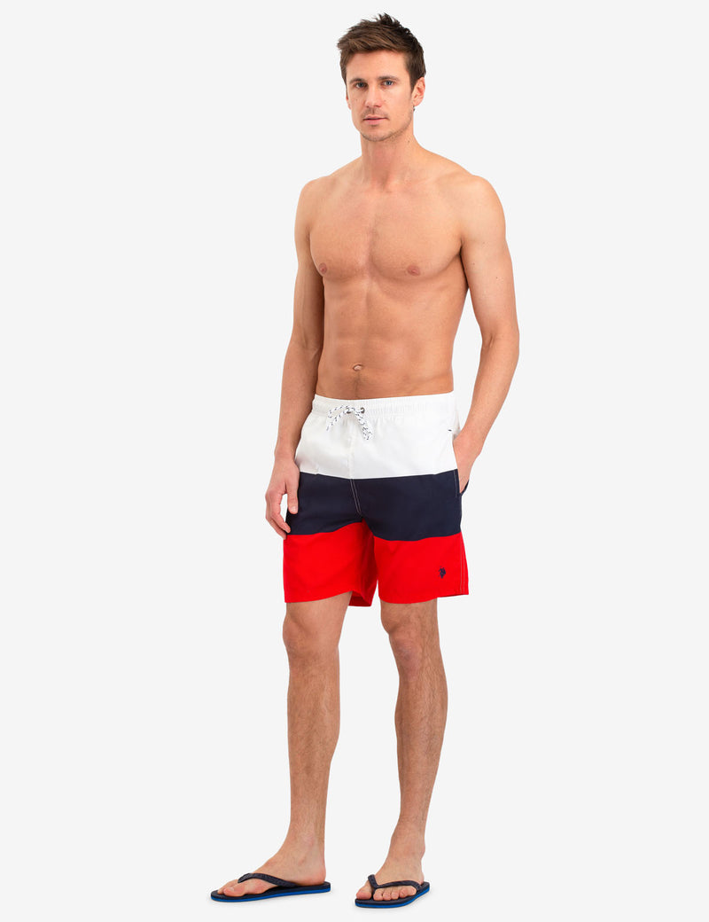 COLORBLOCK RWB SWIM TRUNKS - U.S. Polo Assn.