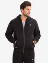 U.S. POLO ASSN. FAUX SHEARLING LINED EMBOSSED HOODIE - U.S. Polo Assn.