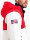 COLORBLOCK FLEECE LINED HOODED COAT - U.S. Polo Assn.