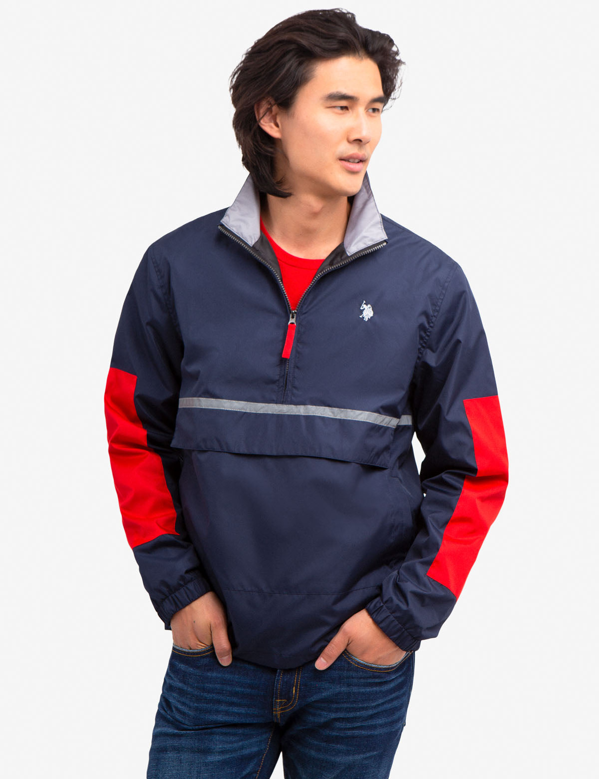 GRAPHIC PULLOVER WITH USPA BACK - U.S. Polo Assn.