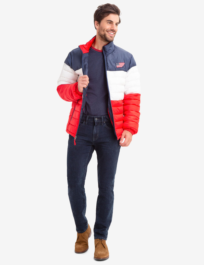 COLORBLOCK USA PUFFER JACKET