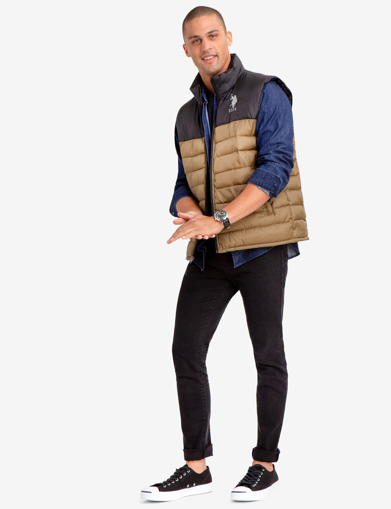 ESSENTIAL COLORBLOCK VEST - U.S. Polo Assn.
