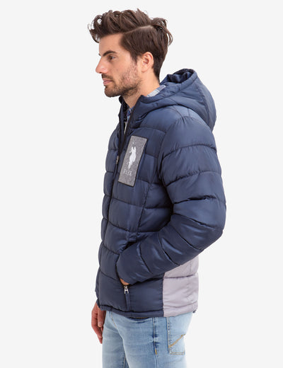 USPA FELT PATCH QUILTED PUFFER COAT - U.S. Polo Assn.