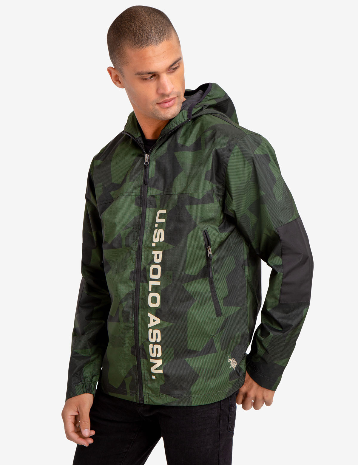 GEOMETRIC CAMO WINDBREAKER
