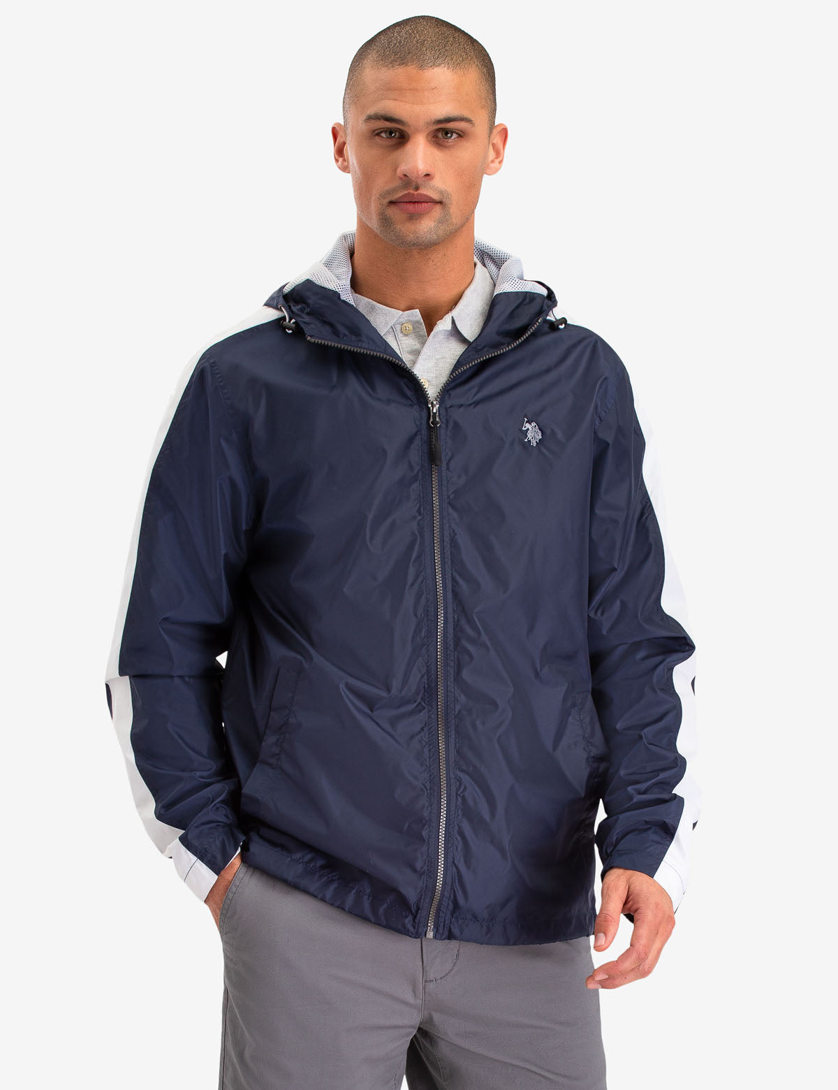 SIDE STRIPE WINDBREAKER JACKET - U.S. Polo Assn.
