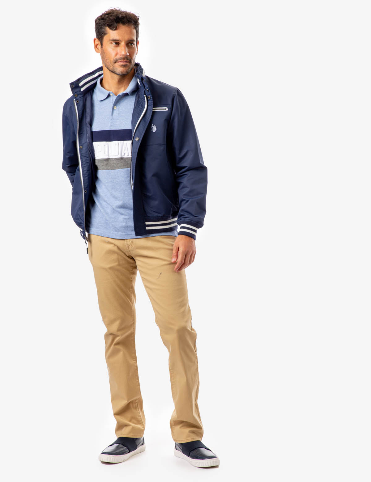 YACHT JACKET WITH PATCH POCKET - U.S. Polo Assn.