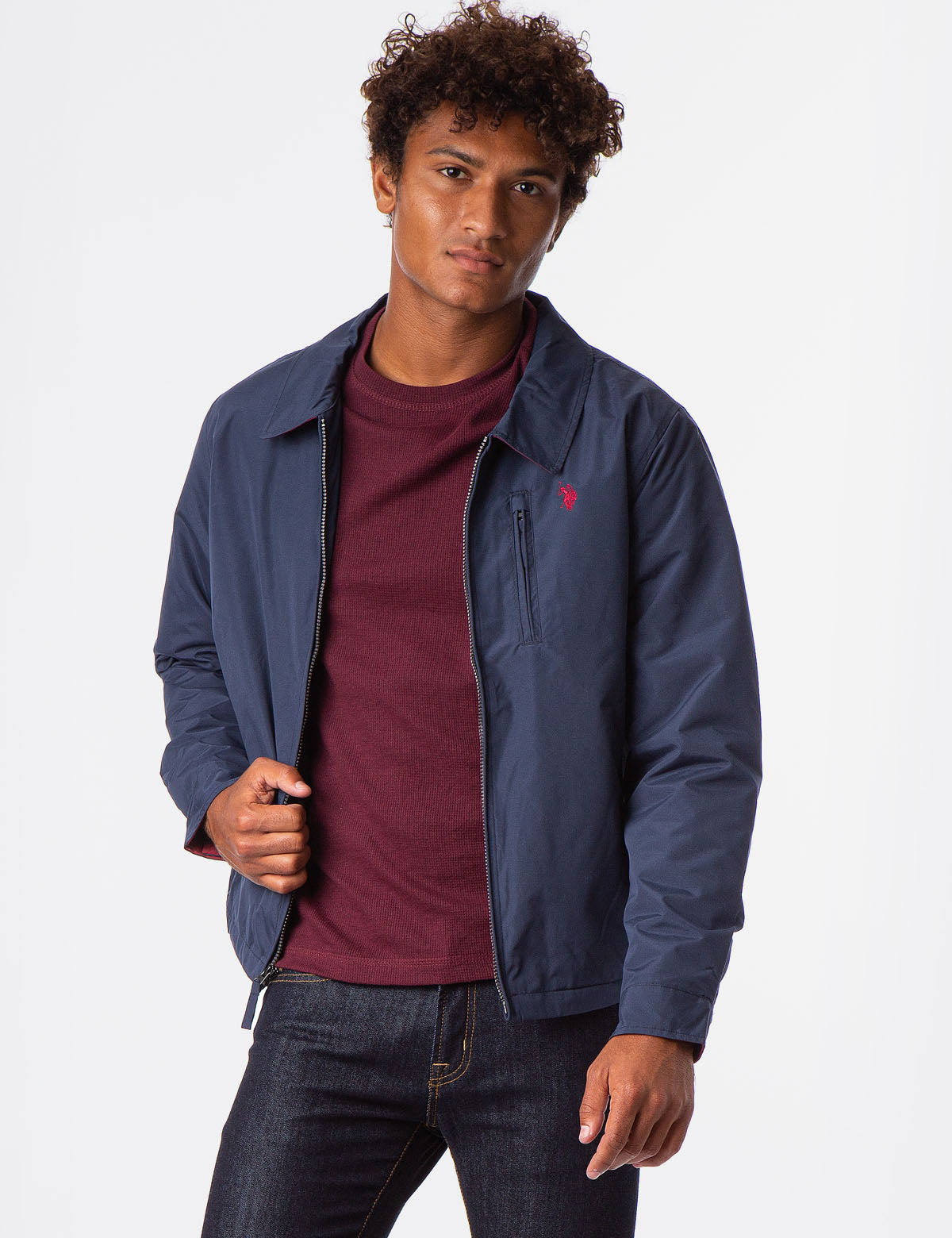 MICRO FLEECE GOLF JACKET - U.S. Polo Assn.