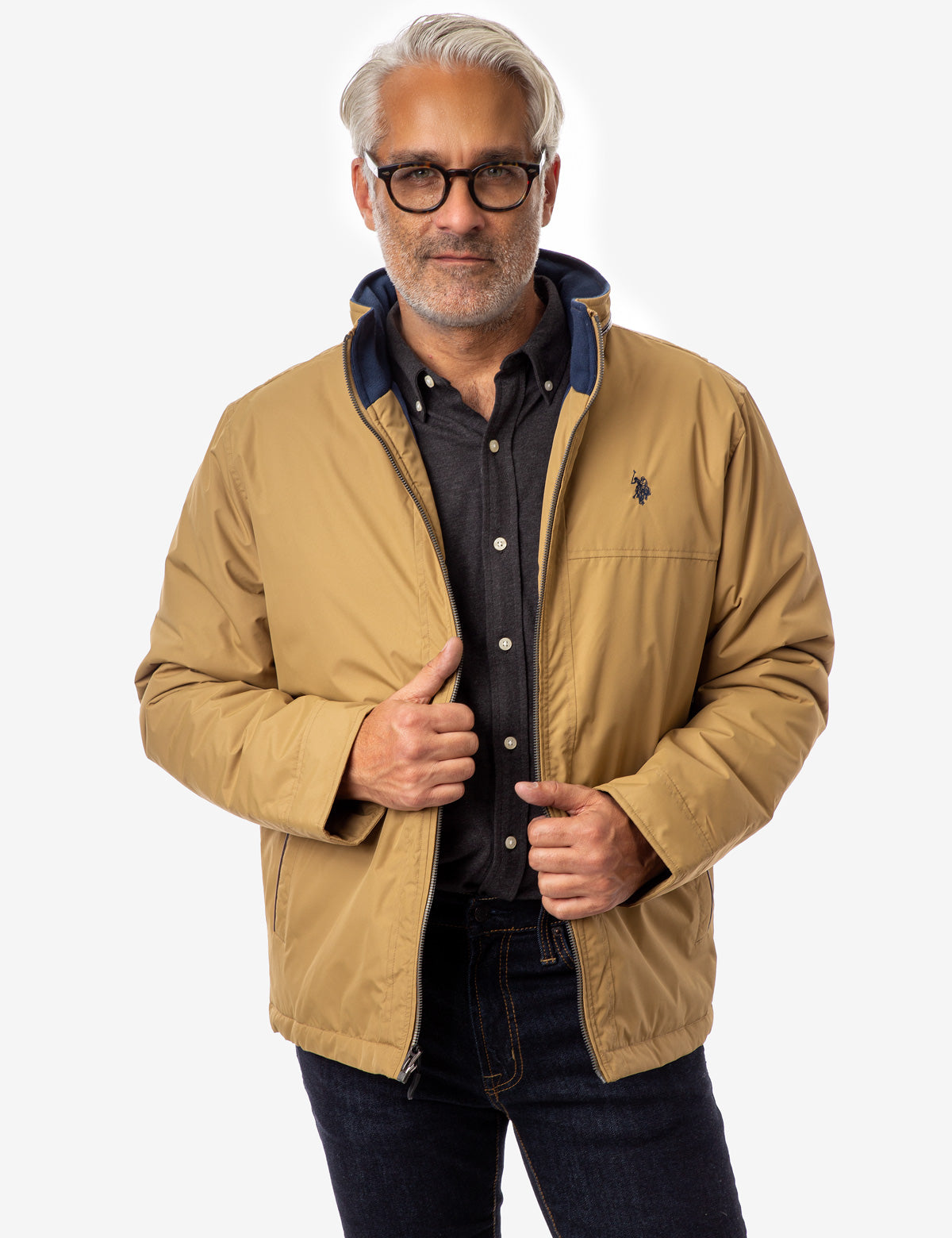 FULL SWING JACKET WITH CONCEALED HOOD - U.S. Polo Assn.