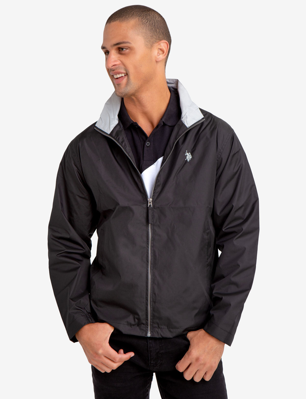 COLLARED WINDBREAKER - U.S. Polo Assn.