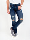 STRETCH SLIM HEAVY DESTRUCTED JEANS - U.S. Polo Assn.
