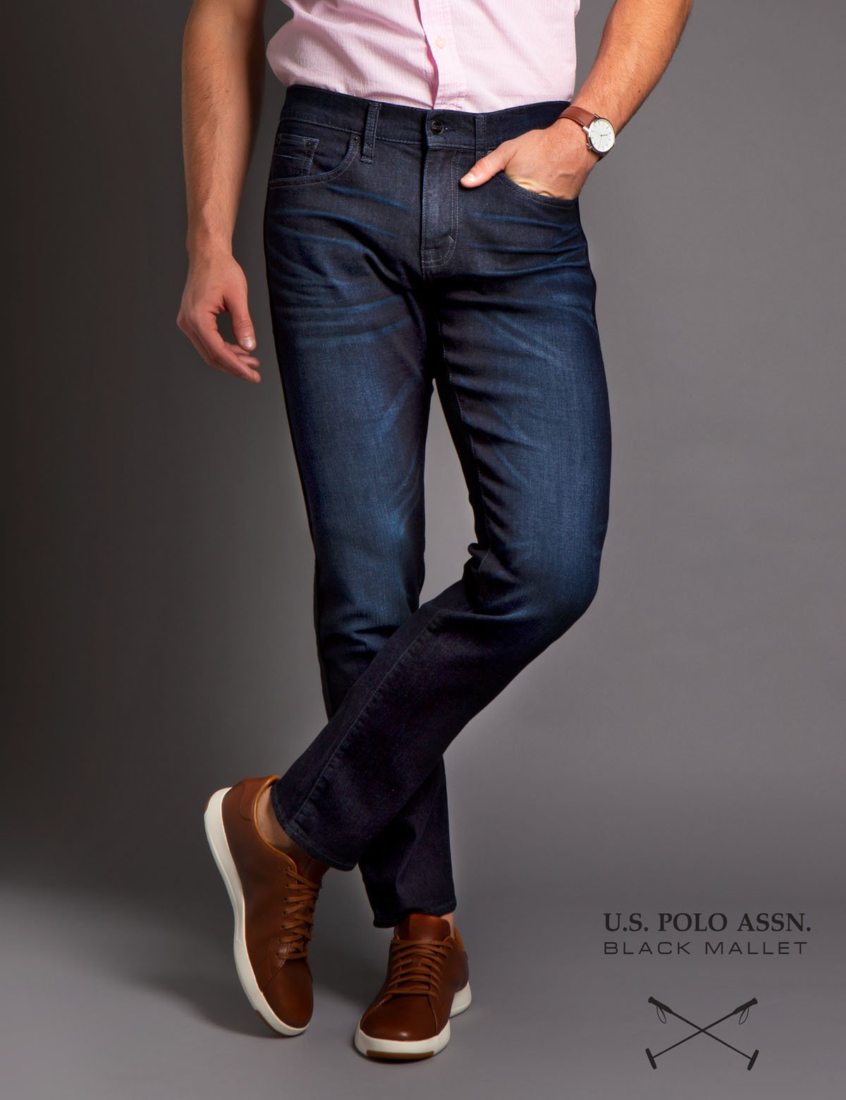 BLACK MALLET SLIM FIT DENIM - U.S. Polo Assn.