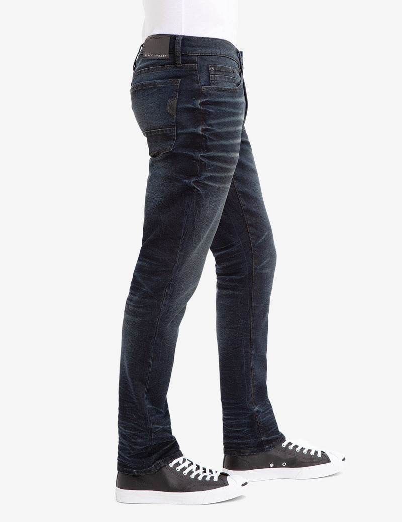 REPREVE® SLIM STRAIGHT DISTRESSED JEANS