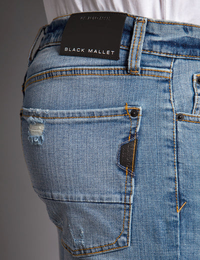 BLACK MALLET SKINNY FIT DENIM - U.S. Polo Assn.