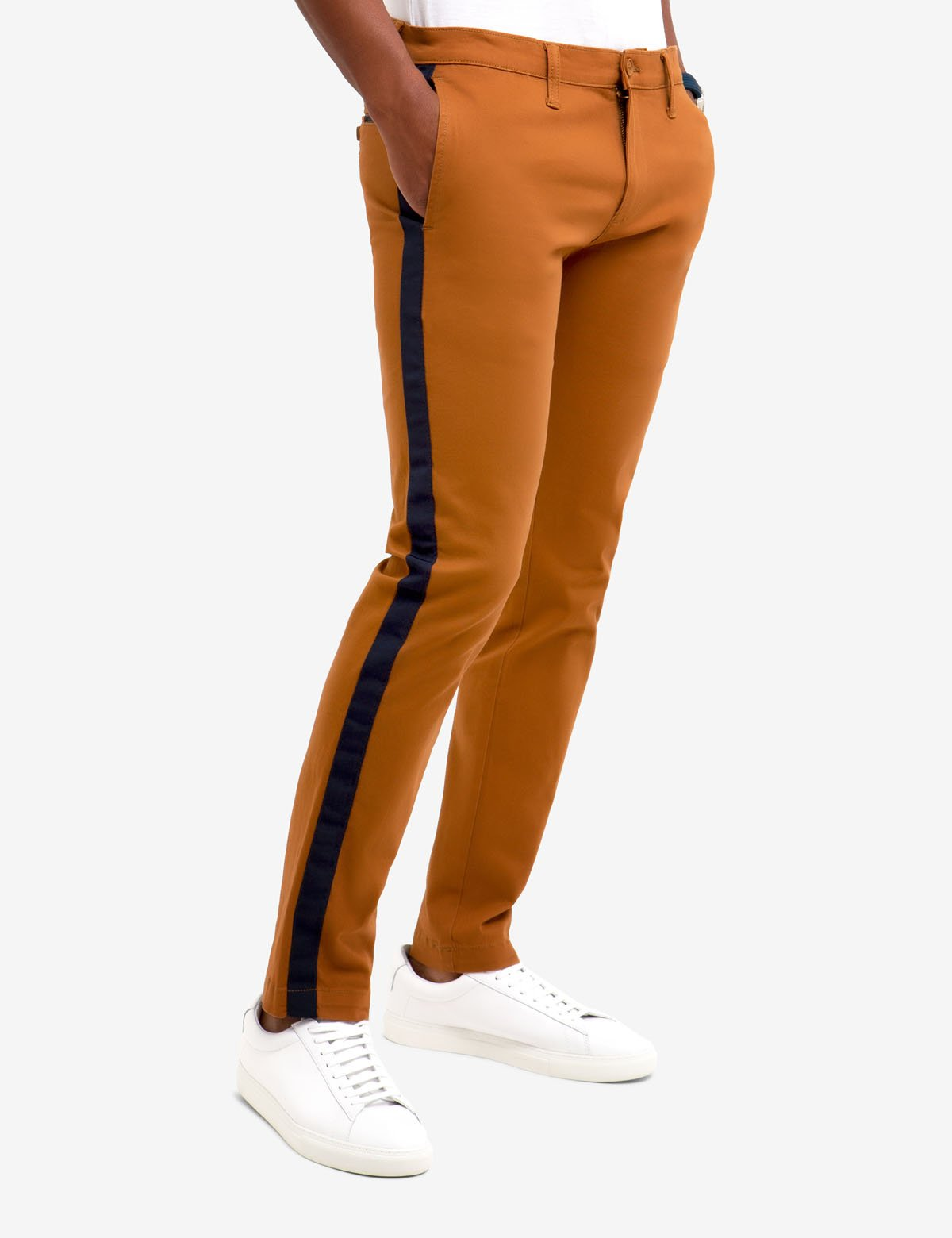 SKINNY SIDE TAPE CHINOS