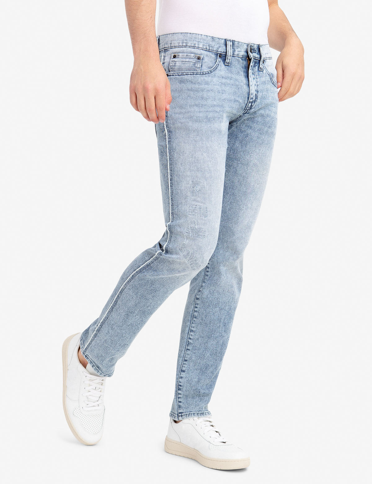 REPREVE® SLIM STRETCH RAW EDGE JEANS