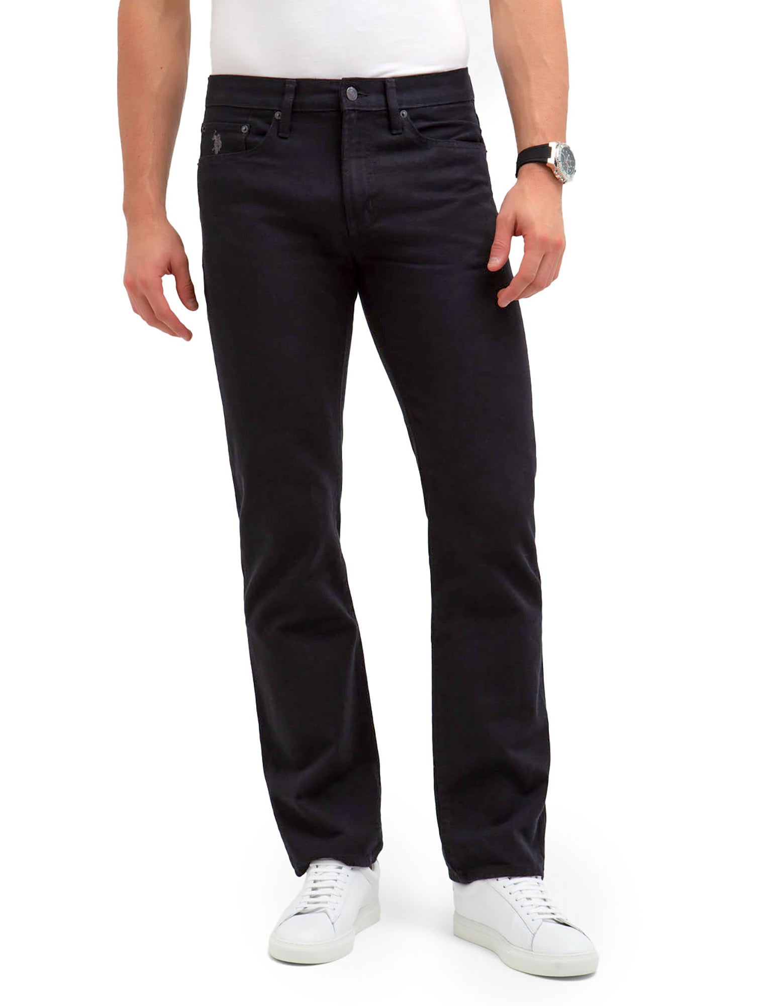 U.S. Polo Assn. - Mens 5 Pocket Rigid Straight Fit Jeans