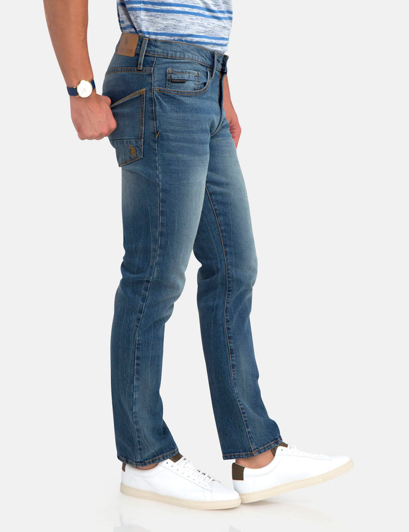 STRETCH SLIM STRAIGHT JEANS