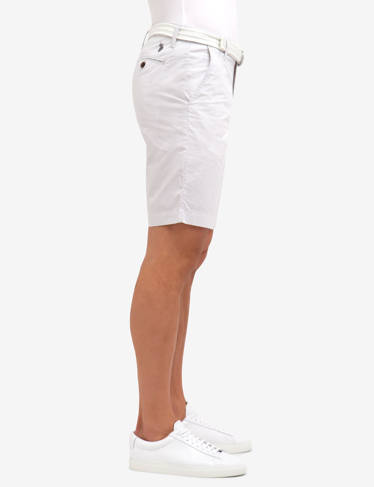 BELTED VERTICAL STRIPED SHORTS - U.S. Polo Assn.