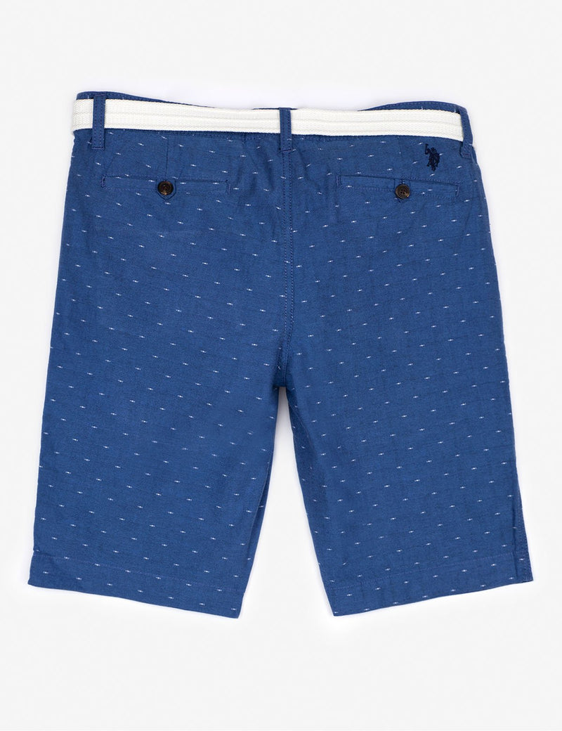 BELTED SWISS DOT SHORTS