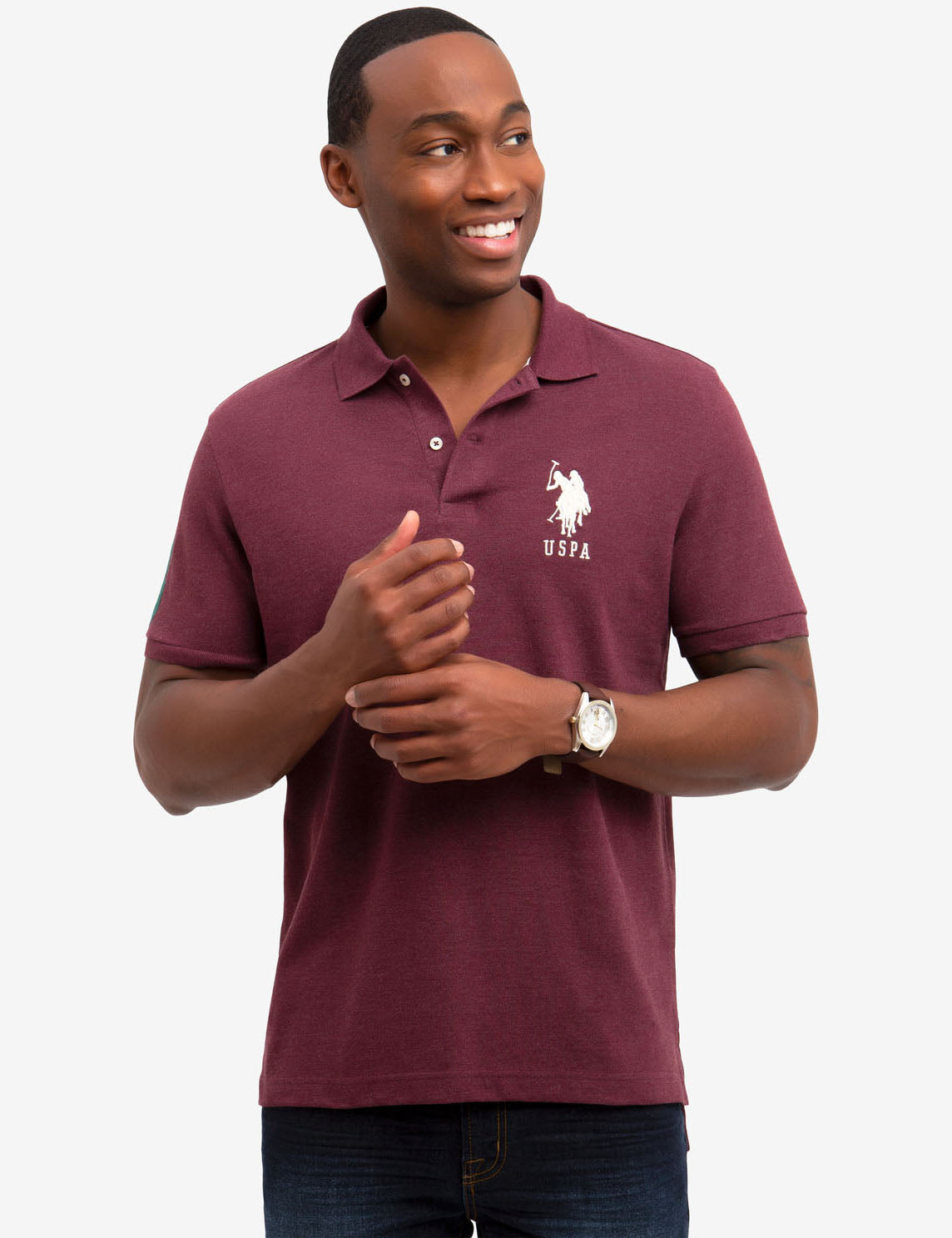 BIG LOGO PIQUE POLO SHIRT