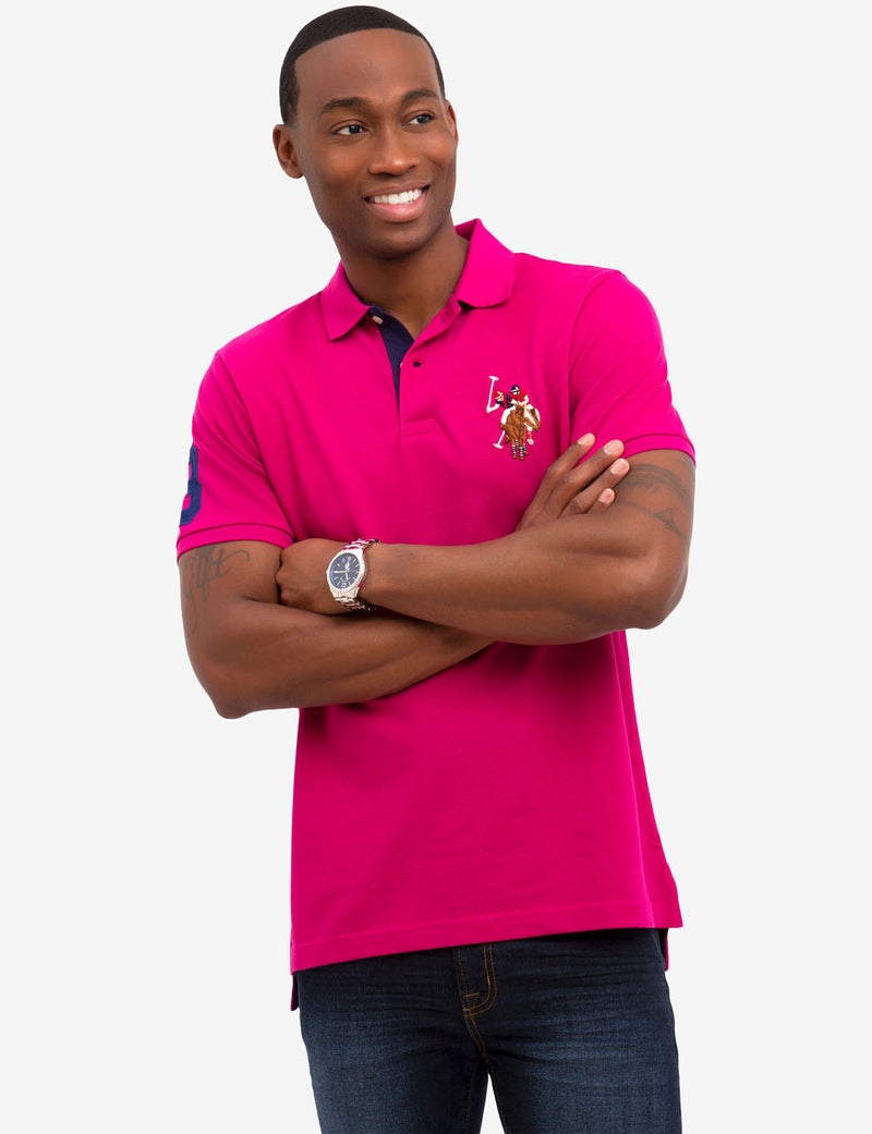 MULTI COLOR BIG LOGO POLO SHIRT