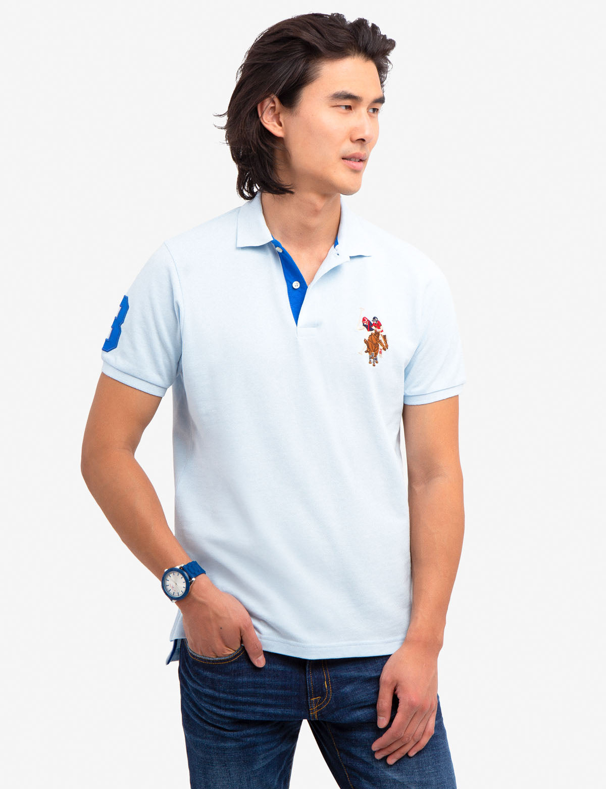 f0158b98b MULTI COLOR BIG PONY POLO SHIRT